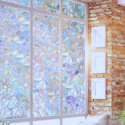 Stained Glass  Panel Window Film Sticker No Glue 3D Static Decor High Quality