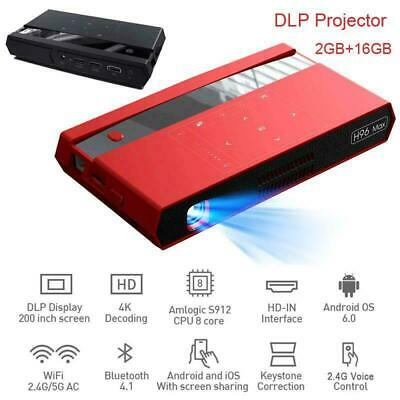 Android WiFi 4K 3D HD LED DLP LCD Projector Home Theater Cinema BT Multimedia AU