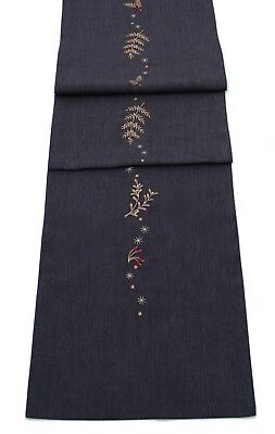 Glisten Embroidered Christmas Table Linen - Table Runner or Napkins or Placemats