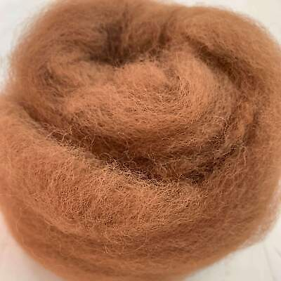 Alpaca Combed Top - Roving For Spinning - Medium Brown