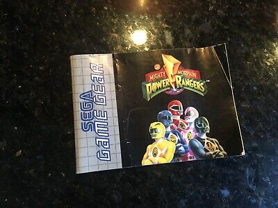 Power Rangers Manual Sega Game Gear