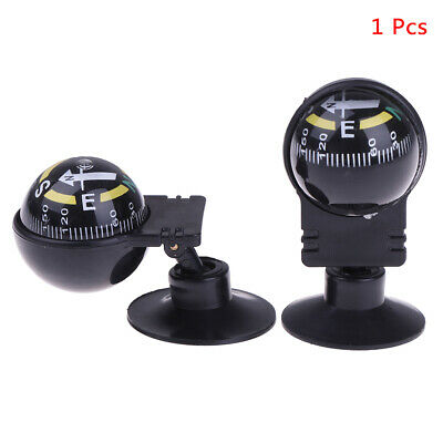 1 Pcs 360 degree rotation Navigation Ball Shaped Car Compass with Suction Cup ^S