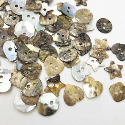 13mm Natural Shell Sewing Buttons Mother of Pearl MOP Round Shell 2 Hole PT300