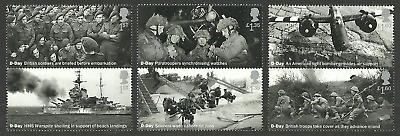 Gb 2019 D-Day Landings Military Ships Aircraft Set Mnh