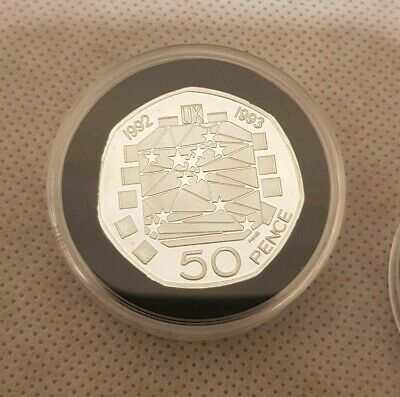 1992 1993 eec brand new 50 p copy coin