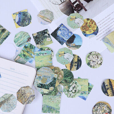 45* meet van gogh reproduce classic decorative stickers adhesive stickers DIY ^S