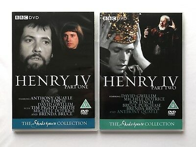 NEW Henry IV Part One & Two dvd BBC Shakespeare Collection 4th King Fourth RARE
