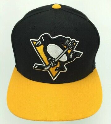 quality design ae2c8 e11d1 NHL Pittsburgh Penguins Mitchell and Ness Snapback Hat Vintage Cap Throwback  G