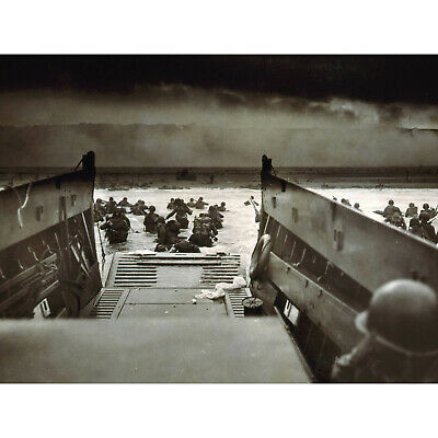D-Day Normandy Invasion Dday World War 2 WWII Matted Photo Picture #c1