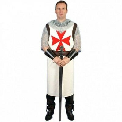 Medieval Viking White Color Templar Knight Tunic Costume For Armor Reenactment