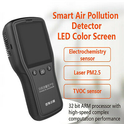 Digital Air Quality Test CH2O TVOC PM2.5 Formaldehyde Monitor Gas Haze Analyzer