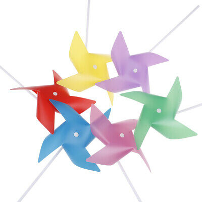 10pcs Colorful Plastic Windmill Toys Pinwheel Self-assembly Windmill Kid's Toy^S
