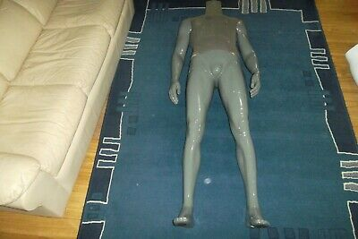 Male Mannequin Full Body Clothes Display Showcase Commercial Detachable Grey