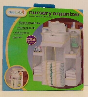 Dexbaby Nursery Organizer Infant Diaper Stacker Caddy Hangs Attaches Easily NEW!