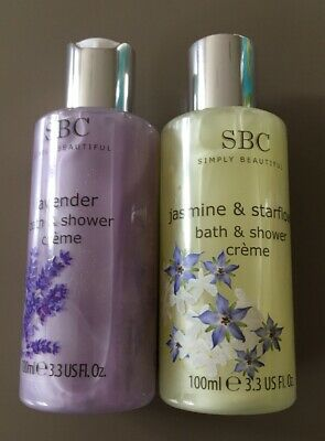 SBC BATH & SHOWER CREME DUO ~ 1 x 100ml Lavender & 1 x 100ml Jasmine & Safflower