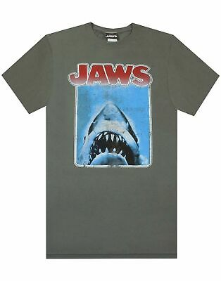 Jaws Distressed Shark Movie Poster Retro Logo Men's T-shirt Top