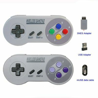Wireless Gamepad 2.4GHZ Joypadk Controller for SNES Super Nintendo Classic