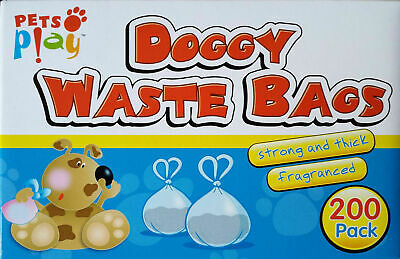 DOGGY BAGS - Scented Pet Pooper Scooper Bag Dog Cat Poo Waste Toilet Poop STRONG