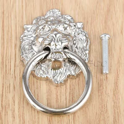 Door Pull Handle Vintage Lion Head Cabinet Dresser Knob Ring Furniture Hardware