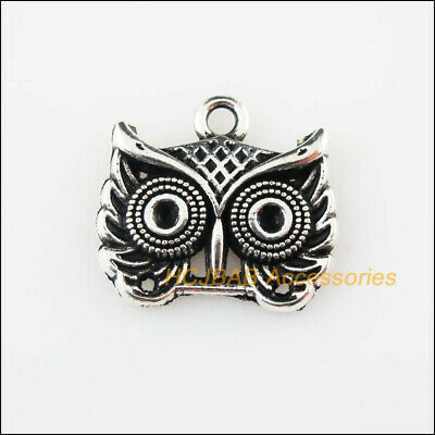 10 New Animal Owl Birds Charms Tibetan Silver Pendants DIY 16x18mm