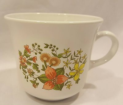 "1970s Corelle Corning ""Indian Summer""  Coffee Mug Cup , Floral EUC (4 Available)"