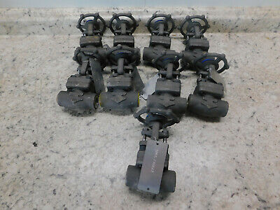 "9 NEW OMB Gate Valve 3/4"" Socket Weld Class 800# A105N Forged Steel Body"