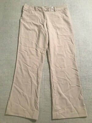 NWOT The Limited Women's Lexie Fit Flat Front Dress Career Pants Beige Sz 10 #N