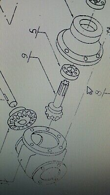 0009ngts Input Shaft for Galfre GTS Series Hay Tedder