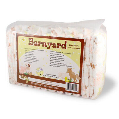 Rearz Barnyard Adult Nappy Diaper - Incontinence Pad - Large - Pack of 12