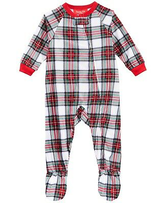 74cabc967 Family Pajamas Baby Unisex Boys or Girls One-Piece Footed PJs, Stewart Plaid