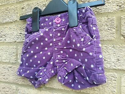 Marks and Spencer baby girls shorts aged 12 - 18 mths