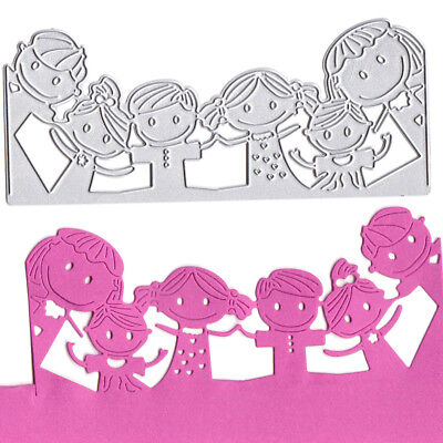 Lovely Children Metal Cutting Dies Stencils for DIY Scrapbooking Album Cards