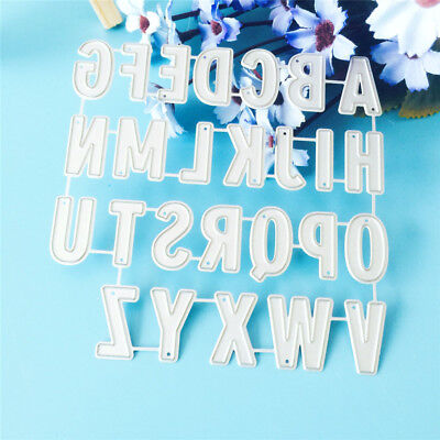 Alphabet diy cutting dies stencil scrapbook album paper card embossing craft