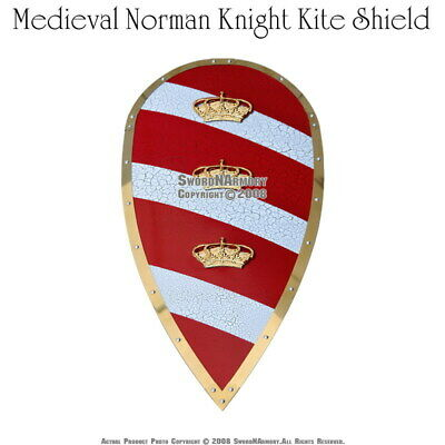 Medieval Norman Knight Kite Shield Saxon Viking LARP Renaissance Fair Costume