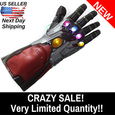 Endgame Iron Man Infinity Gauntlet Replica LED Light Up Toy Marvel Avengers Cosp