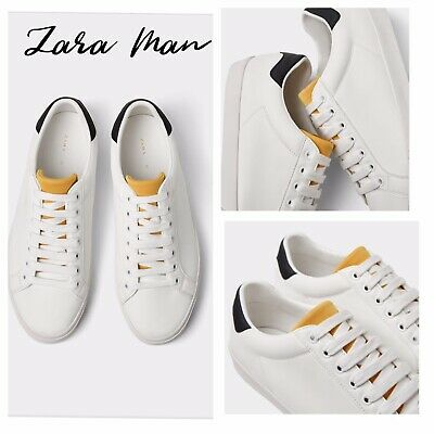 00992e3c84e Zara New Man White Quilted Plimsolls Shoes Sneakers White 39-47 Ref.5352/