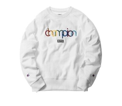 391482501dd9 Kith X Champion Crewneck Double Logo White Brand New With Tags Size Large