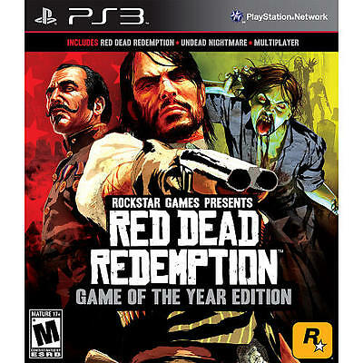 Red Dead Redemption GOTY (Sony PlayStation 3, 2011) GREATEST HITS CIB+ MAP  PS3