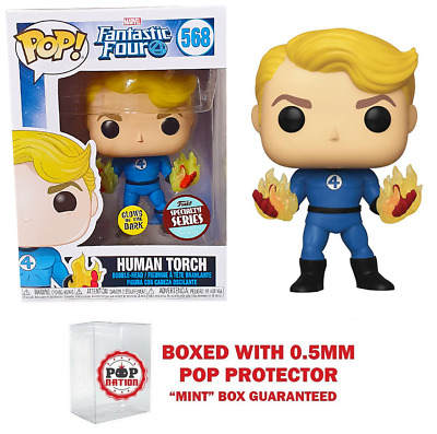 """Funko Pop : Fantasic Four Specialty Series : Human Torch #568 """"MINT  (IN STOCK)"""