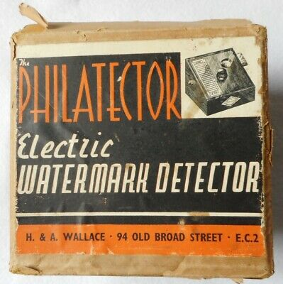 Antique Very Rare Philatector Electric Watermark Detector (H&A Wallace 1915-25)