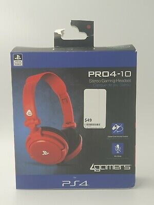 Officially Licensed Sony PRO4-10 Wired Gaming Headset for PS4 Pro Slim PS Vita