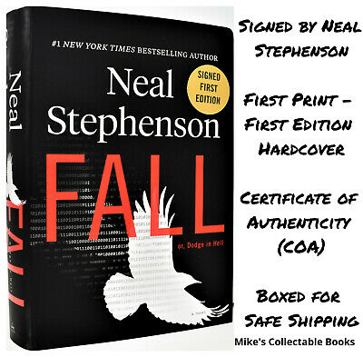 !SIGNED 1/1! Fall or Dodge in Hell AUTOGRAPHED Book Neal Stephenson +COA  NEW