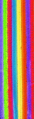 Creativity Street Standard Chenille Stems, 1/8 x 12 Inches, Various Hot Colors,