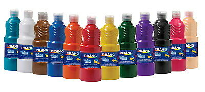 Prang Ready-to-Use Washable Tempera Paint Set, Assorted Bright Colors,  Pint Set