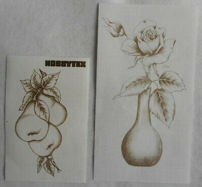 2 Vintage Hobbytex 1 Rose and 1 Pear without instructions