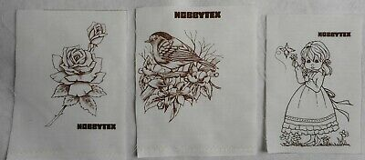 3 Vintage Hobbytex 1 Little Girl and 1 Rose and 1 Bird without instructions