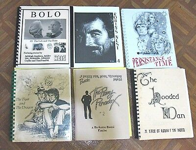 Vintage Fanzine Collection Tv Shows Mixed Themes Lot Of 6 Different Lot 155