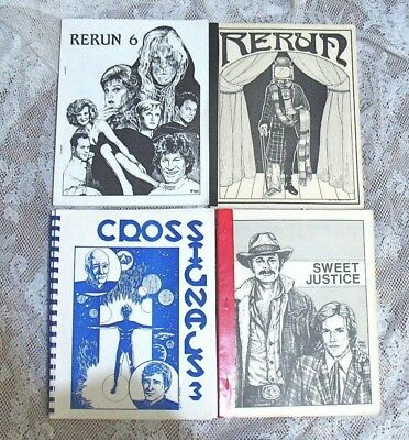 Vintage Fanzine Collection Tv Shows Mixed Themes Lot Of 4 Different