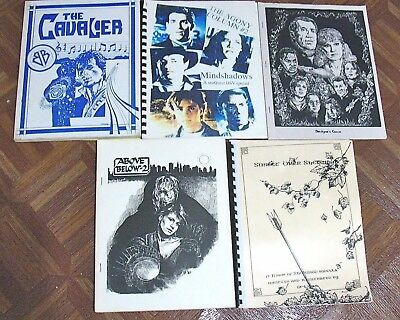 Vintage Fanzine Collection Tv Shows Mixed Themes Lot Of 5 Free Shipping! Lot 129