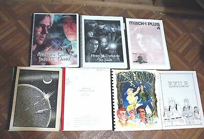 Vintage Fanzine Collection Tv Shows Mixed Themes Lot Of 7 Different  Lot 195